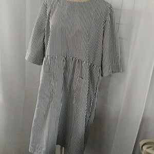 Baby doll style striped dress